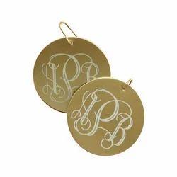 Metal Monogram Earrings