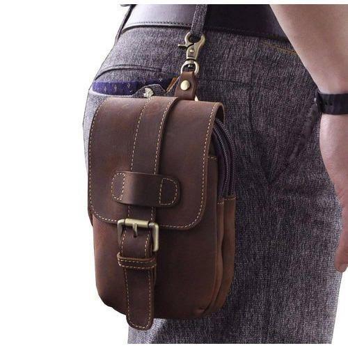 Genuine Leather Waist Pack Drop Bag