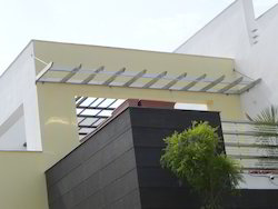 Plain Silver Stainless Steel Window Awning