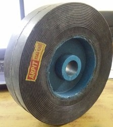 Half Moulded Rubber Wheel 8x2