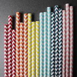 Colored Striped Straw