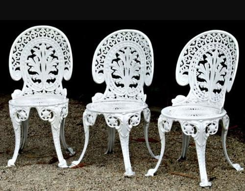 White Cast Iron Chairs