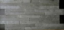 Black Stacked Wall Tiles