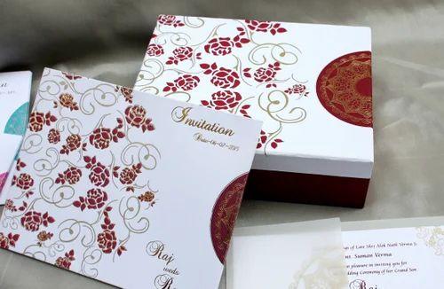 Rose Indian Wedding Cards