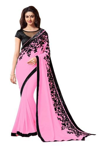 e681659961 Embroidery Designer Saree at Rs 1049 /piece(s) | Embroidery Work ...