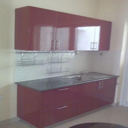 Pvc L Shape Modern Modular Kitchen Rs 850 Square Feet: Contemporary Modular Kitchen