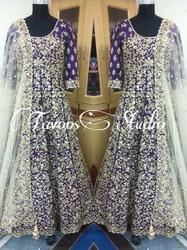 Embroidered Floor Length Suit