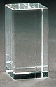 Rectangle Crystal Cube (150x80x80 Mm)