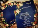 Blue and Roses Wedding Card