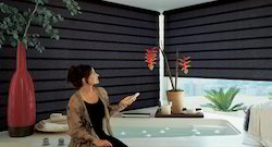 Glemtech Black Motorised Window Roller Blinds