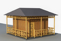 Thatched Bamboo House