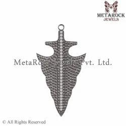 Pave Setting Texture Diamond Pendant