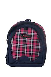 Red & Blue Checked Small School Bag