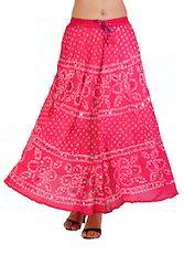 Womens Bandhej Cotton Skirts
