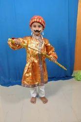 Party Wear Golden Shivaji Kids Dress