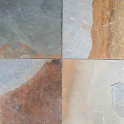 Rectangular Gray Slate Stone Tiles, Thickness: 35-45 mm