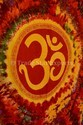 Tie Dye Indian Tapestry Bohemian Om Wall Hanging