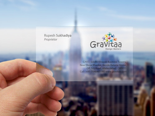 Transparent Business Card Printing Services In Ahmedabad Gravitaa