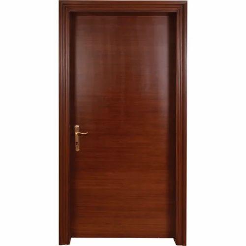 smoke lurch veneer flush door with teak frame - Door With Frame