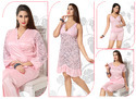 4 Pcs Night Suit Set