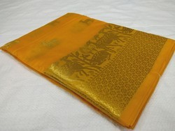 Party Wear Embroidery Fancy Jacquard Sarees, With Blouse Piece
