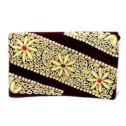 Embroidered Clutch Bag Ethnic Party Wear Clutches