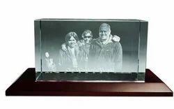 Boxed Shaped Large Crystal Photo Frame