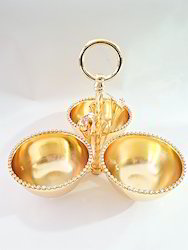 Gold Plated 3 Set Bowls