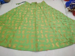 Banarsi Full Lenght Jacard silk skirt, Size: Free Size