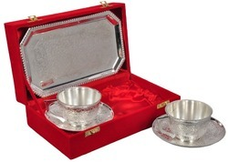 Silver Plated Tea Cup Saucer Set