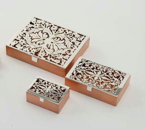 Decorative Metal Box At Rs 40 Set Dhatu Ka Uphaar Box AGS Cool Decorative Metal Boxes With Lids