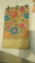 Muslin Silk Kashida Work Saree