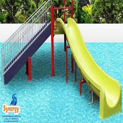 Yellow Swimming Pool Slide 7 Ft