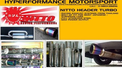 Nitto Racing Exhaust Stainless Steel Racing Exhaust Systems