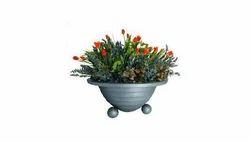 Round Grey Flower Planter for Plantation
