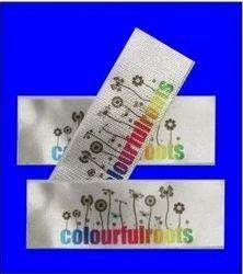 Digital printed satin label