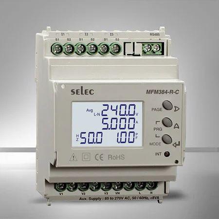 Selec Three Phase Digital Multifunction Meter for Industrial, Model: MFM-384 R-C