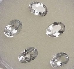 Oval Cut 13x18mm Natural White Topaz Gemstone