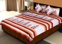 Silk Bed Cover Cushion N Pillow Covers Set 412