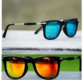 08742e2e10 Male Fancy Sunglasses Blue And Golden Goggles Combo Pack Of 2 Pcs ...