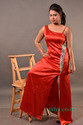 Red Party Wear Stone Setting Gown