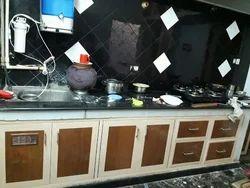 Wooden L Shape Kitchen Interior, Kitchen Cabinets