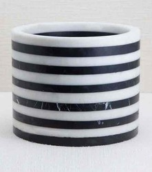 Marble White Black Wine Cooler
