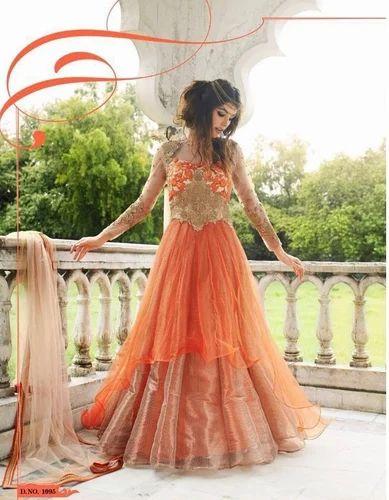 Anarkali Gown Dress Cum Salwar Suit at Rs 3899 /piece(s) | Anarkali ...