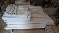 White Rectangular Neem Wood Door Frame, Dimension/Size: Custom