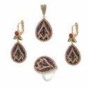 Turkish Ottoman Silver Pendant Set