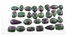Ruby Zoisite Mix Shape Size Cabochon Lot