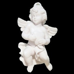 White BABY ANGEL IN RESIN CHRIST_ANGEL, Size/Dimension: 3