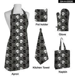 Printed Cotton Kitchen Linen Set