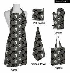 Printed Cotton Kitchen Linen Set